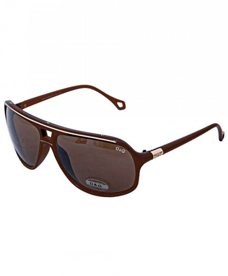 Dolce And Gabbana Aviator Style Brown Sunglasses S8150
