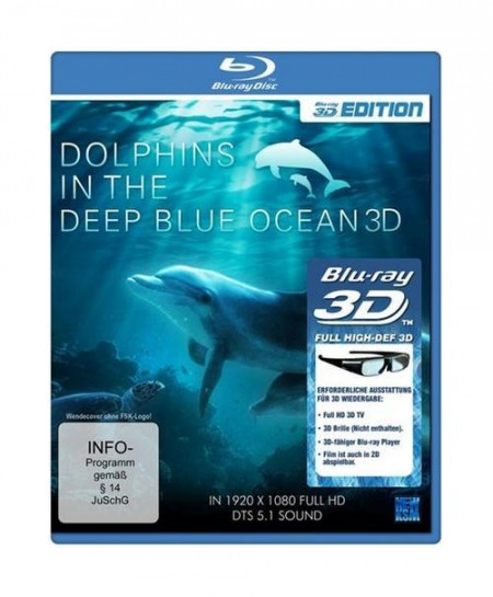Dolphins in the Deep Blue Ocean (2009) (3D Blu-Ray Movie)