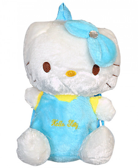Hello Kitty White And Blue Cartoon Kids Backpacks