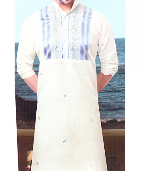 Majestic Off White Unstitched Kurta Shalwar 38348