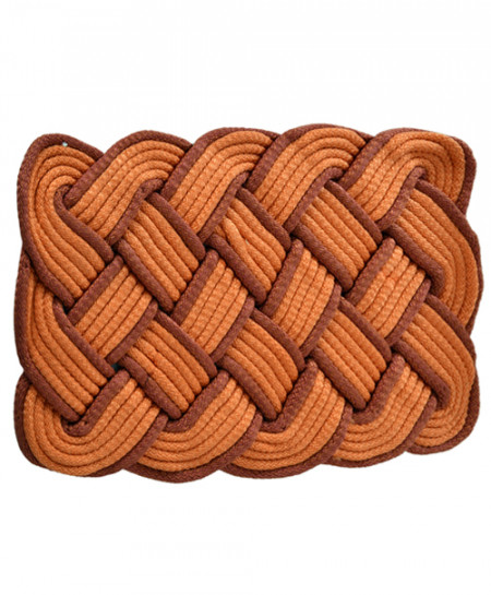 Mars Red And Orange Polyester Door Mat Rope