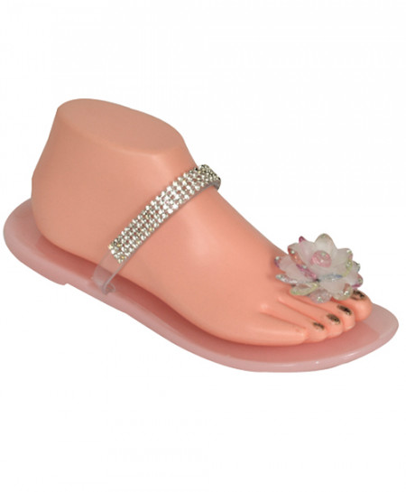 Meilisa Fancy Diamante Flower Slippers SN-1176