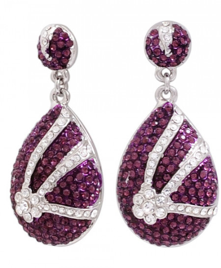 Purple Earrings LE-053