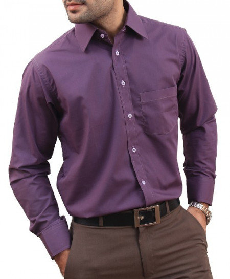 Purple Men Formal Shirt