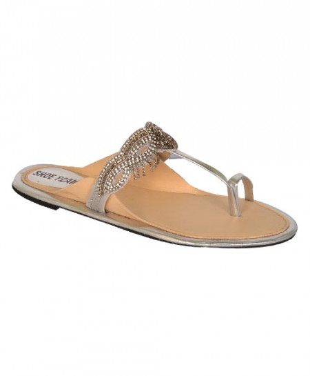 Shoe Planet Silver Fancy Slipper SN-904