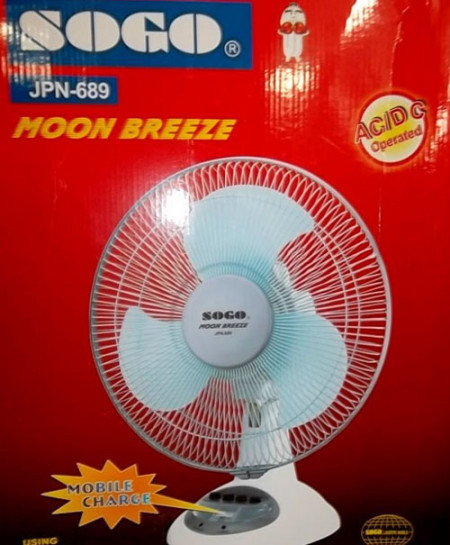 SOGO 12 Inch Rechargeable Fan  Jpn-689