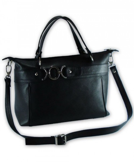 Unique Italian Leather Handbag Black61