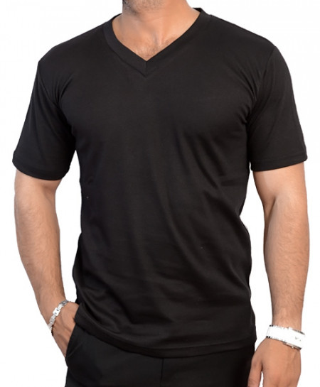 V Neck Black T-Shirt