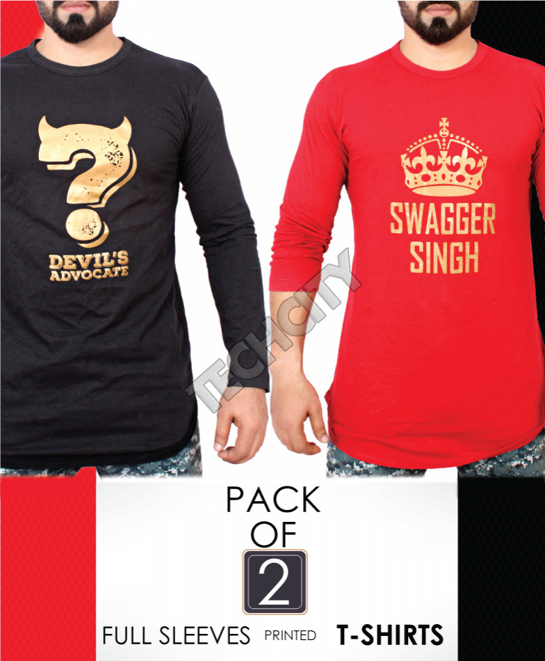 Pack Of 2 Printed T-Shirts AG-25