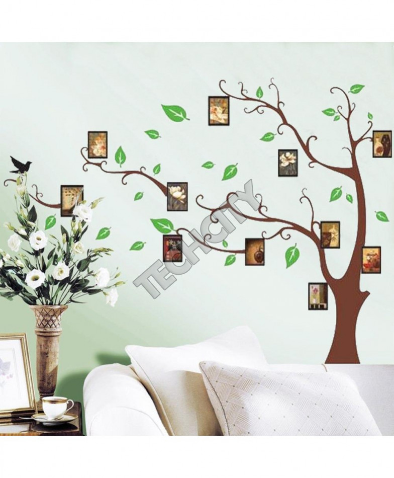 Photo Frame Green Tree Wall Sticker Mural Decals Removable Vinyl Room Decor