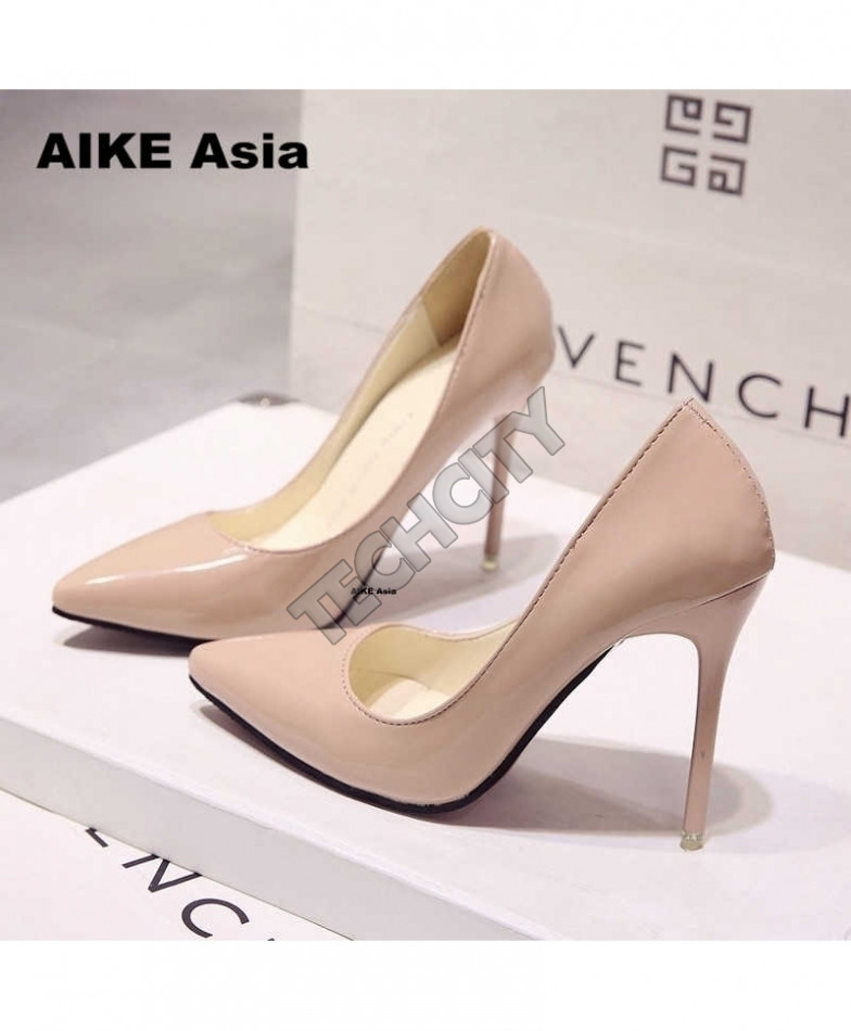 excellent quality latest hot sales Apricot High Heels Pumps Thin Heel Classic Pump Shoes